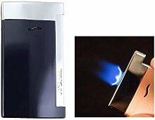 S.T. Dupont Feuerzeug Slim 7 blau chrom Flat_Flame