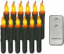 S-TROUBLE 12 Stück Lange flammenlose LED-Kerze