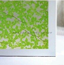 S.Twl.E 60 cm Milchglas Folie opak Badezimmer Schiebetür Sonnenschutz Fenster - Fenster Papier fluoreszierend grün Koreanischen grünes Blatt 60 cm W*2 M