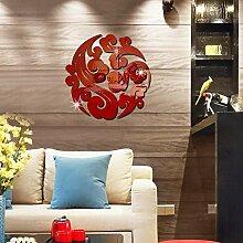 S.Twl.E Kreative Nanning Spiegel Dekoration Wand Aufkleber ROT