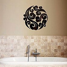 S.Twl.E Kreative Nanning Spiegel Dekoration Wand Aufkleber schwarz