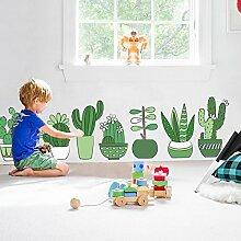 S.Twl.E Kreative Topfpflanzen Tapete Selbstklebende Kinderzimmer Schlafzimmer Zimmer Wandtattoos Kinderzimmer Dekor Aufkleber Poster