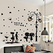 S.Twl.E Schöne Aufkleber Wandtattoos Schlafzimmer Wohnzimmer Wanddekoration Tapete Selbstklebende, 8, König