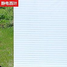 S.Twl.E Statische Elektrizität aus Film Milchglasfenster Film Office opak Badezimmer Jalousien Sonnenschutz Fenster sticker Gitter, elektrostatische geschlitzte 45 cm Breite 1 m