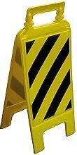 S21Signage 11–0404–Staffelei Panel Streifen bun