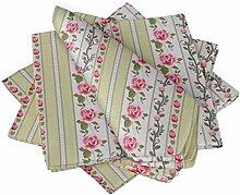 S4Sassy Beige Streifen, Blätter & Rose Blumen-