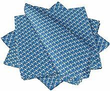 S4Sassy Blau Kette geometrisch Esstisch Leinen