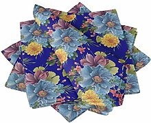 S4Sassy Blau Pfingstrose & Chrysantheme Blumen-