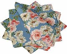 S4Sassy Blau Rose & Ranunkeln Blumen- Esstisch