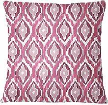 S4Sassy Erröten rosa Ikat-Druck Kissenbezug Quadrat Kissenbezug Bett Kopfkissenbezug Home Decor-24 x 24 Inches