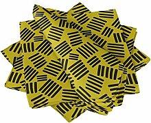 S4Sassy Gelb Pinselstrichs abstrakt Esstisch