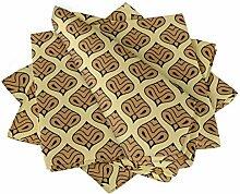 S4Sassy Gold marokkanisch Damast Esstisch Leinen