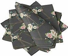 S4Sassy Grau Dreieck & Rose Blumen- Esstisch
