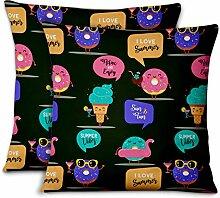 S4Sassy Grun Samt Donut & dekorative Kissen