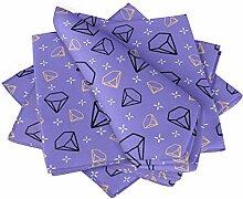 S4Sassy Lila Diamant geometrisch Esstisch Leinen