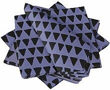 S4Sassy Lila Dreieck geometrisch Esstisch Leinen