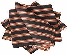 S4Sassy Orange geometrisch prufen Esstisch Leinen