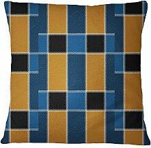 S4Sassy Prüfungs-Druck-Gelb Kissenbezug Quadrat Kopfkissenbezug Bett Schlafkissenbezug Home Decor-20 x 20 Inches