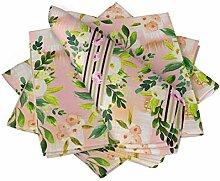 S4Sassy Rosa Blatt Blumen- Esstisch Leinen