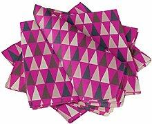 S4Sassy Rosa Dreieck geometrisch Esstisch Leinen