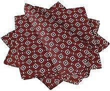 S4Sassy Rot geometrisch Ikat Esstisch Leinen