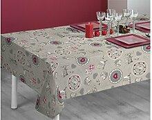 SABANALIA Vintage Tischdecke, schmutzabweisend 140