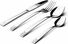 Sabichi Arrow Besteck-Set, Edelstahl, 6,3 x 20 x