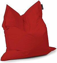 Sack Kissen Patos rot Mis.170x 145Kissen Sitzsack Stoff Wasserabweisend Nylon 100% Polyamid Verwendung Innen und Außen Haus und Garten Gefüllt in Perle von Polystyrol abnehmbar