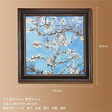 SADASD Amerikanische Wandleuchte Sofa Hintergrund Wandmalerei Lampe Dekoration Korridor Gang Wohnzimmer Schlafzimmer lackiert Leuchten, Aprikose Blume B