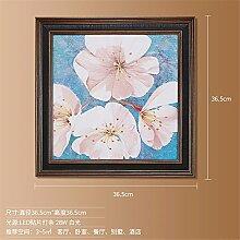 SADASD Amerikanische Wandleuchte Sofa Hintergrund Wandmalerei Lampe Dekoration Korridor Gang Wohnzimmer Schlafzimmer lackiert Leuchten, Blütenblätter B