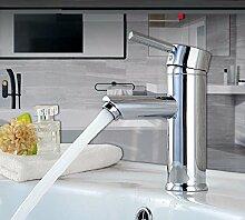 SADASD Badezimmer Waschbecken Armatur Waschtisch Armatur Armaturen alle Messing Einloch Waschbecken Wasserhahn (warmes und kaltes Wasser? tippen