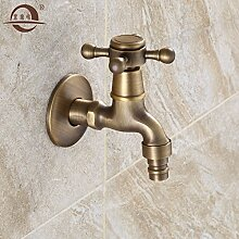 SADASD Badezimmer Waschbecken Waschbecken Wasserhahn Kupfer antik Kupfer Einloch Qualität Moderne Möbel Badezimmer Armatur (heißes und kaltes Wasser)