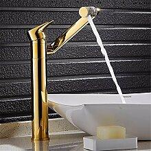 SADASD Badezimmer Waschbecken wasserhahn Continental alle Kupfer Waschbecken mit warmen und kaltem Wasser auf 360 Grad Rotation Gold Farbwiedergabe von Waschbecken Waschtisch Armatur