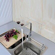 SADASD Badezimmer Waschbecken wasserhahn Die Chrome-Plated Kupfer Wasserfall Becken Mischbatterien Bad Armatur