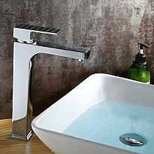 SADASD Badezimmer Waschbecken Wasserhahn hohe Verchromt Kupfer Zeitgenössische gehobene Wc Waschtisch Armatur
