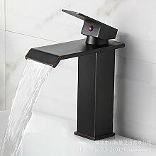 SADASD Badezimmer Waschbecken Wasserhahn Kupfer antik Bad Küche Einloch Toilet-Table des Beckens Rotation modernen gehobenen Möbel Badezimmer Armatur (heißes und kaltes Wasser)