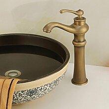 SADASD Badezimmer Waschbecken Wasserhahn Kupfer antik Badezimmer Waschtisch Waschbecken Waschbecken Einloch Qualität Moderne Möbel Badezimmer Armatur (heißes und kaltes Wasser)