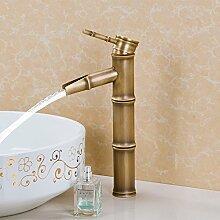 SADASD Badezimmer Waschbecken Wasserhahn Kupfer antik Badezimmer Waschtisch Rotation modernen gehobenen Möbel Badezimmer Armatur (heißes und kaltes Wasser)
