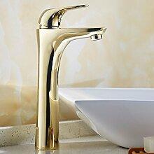 SADASD Badezimmer Waschbecken Wasserhahn Kupfer antik einzelne Bohrung Sit-On Sitzbank Badezimmer Waschbecken moderne Upscale Möbel Badezimmer Armatur (heißes und kaltes Wasser)