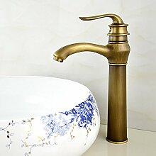 SADASD Badezimmer Waschbecken Wasserhahn Kupfer antik zu drehen das Becken Einzel WC Waschbecken moderne Upscale Möbel Badezimmer Armatur (heißes und kaltes Wasser)