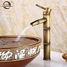 SADASD Badezimmer Waschbecken Wasserhahn Kupfer antiken Tisch Waschbecken moderne Upscale Möbel Badezimmer Armatur (heißes und kaltes Wasser)