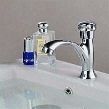 SADASD Badezimmer Waschbecken Wasserhahn Kupferlegierung kalte Waschbecken mit einem minimalistischen und zeitgemäßen gehobenen Wasserhähne im Bad