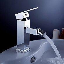 SADASD Badezimmer Waschbecken wasserhahn Messing heiße und kalte Wash-basin Einloch Desktop Waschtischmischer und Bäder, Mischbatterie