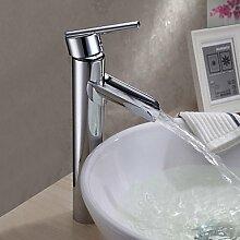 SADASD Badezimmer Waschbecken wasserhahn Mode moderne Badezimmer Waschbecken Armaturen Mischbatterie Einhebel Spüle Mischbatterie mit Ausziehbarem Spray (heißes und kaltes Wasser)