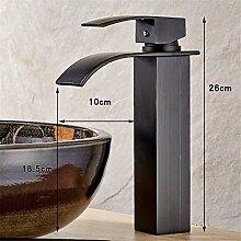 SADASD Badezimmer Waschbecken Wasserhahn Schwarz Europäischen und Amerikanischen Stil Waschbecken Waschbecken Waschbecken Waschbecken Armatur Waschbecken wc Einloch ?Heiß amd kaltes Wasser)