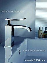 SADASD Badezimmer Waschbecken Wasserhahn voll Kupfer antiken europäischen Waschbecken Keramik Schieber Home Bad Dekoration Waschbecken Mischbatterie mit Schlauch (heißes und kaltes Wasser)