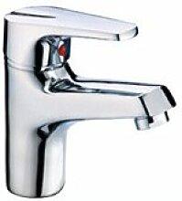 SADASD Badezimmer Waschbecken Wasserhahn voll Kupfer Einloch Single Waschbecken Keramik Töpfe Home Bad Dekoration Waschbecken Mischbatterie mit Schlauch (heißes und kaltes Wasser)