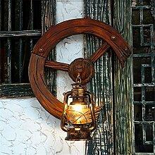 SADASD Bar Wandleuchte antike Laterne Retro kreative Villa rad Lampe Cafe Teehaus Dekoration Wandleuchte