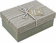 SADASD Geschenk-box Ausgefahrene Höhe erhöhen Rechteckige Hochwertige Geschenk Schachtel Pralinen Bügeleisen, Kekse plus Geschenk Tasche Brushed-Dark Grau