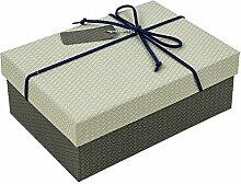 SADASD Geschenk-box Ausgefahrene Höhe erhöhen Rechteckige Hochwertige Geschenk Schachtel Pralinen Bügeleisen, Kekse von Sen 16,5 * 11,5 * 6 cm Deep Space Hellgrau